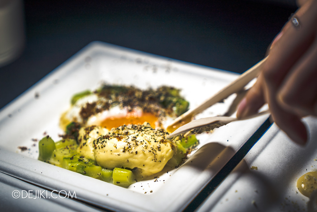 The Great Food Festival RWS - Celebrity Chef Area / Aquavit: Poached Eggs & Asparagus