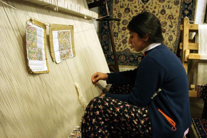 weaving carpets, S.W Turkey