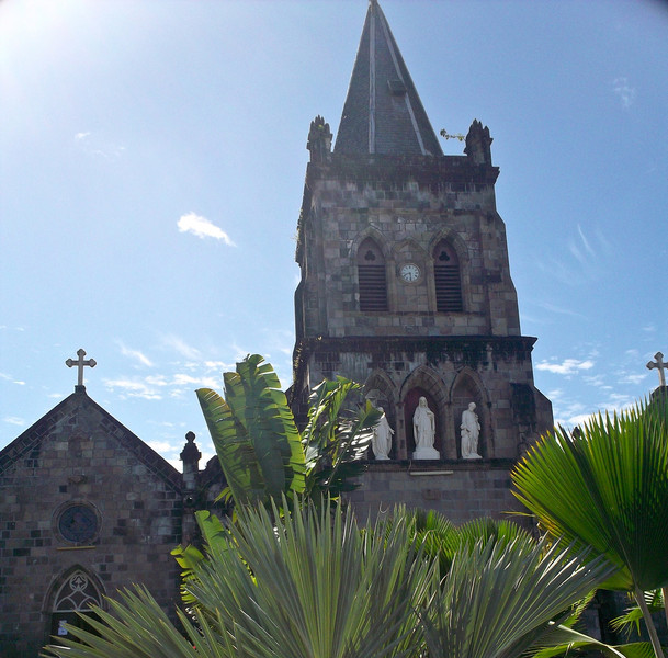 One of the many churches in Dominica