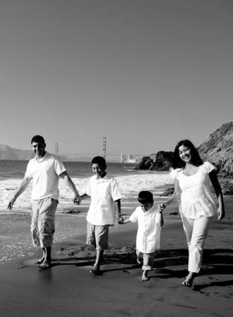 Manio Family Black and White Portraits