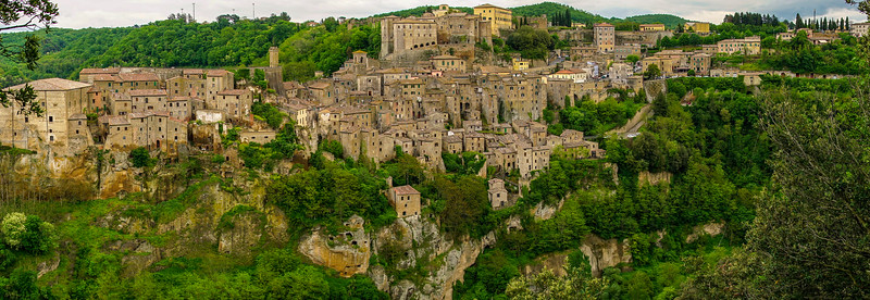 Panoramic Sorano, Italy