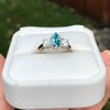 1.73ctw Blue Marquise Cut Diamond Trilogy Ring 20