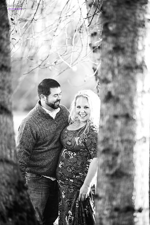 Jason & Chelsea Engagement bw