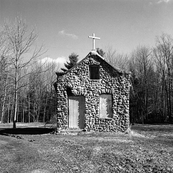 Stone House with Cross, Cleveland, NY. April 2001