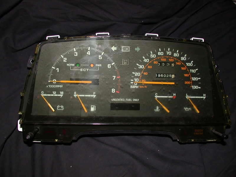 the 130mph gauge cluster