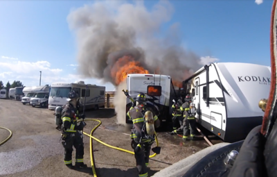 Eagle Street RV Fire