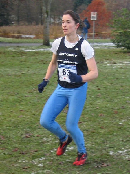 2005 Canadian XC Championships - Another 'junior' master - Kathy Rung from Campbell River