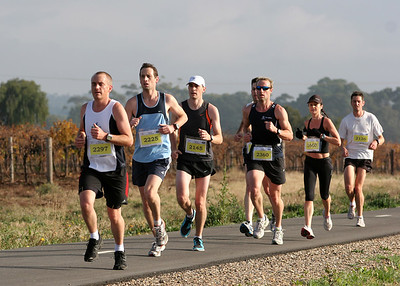 Jacob's Creek Barossa 1/2 Marathon 6km mark