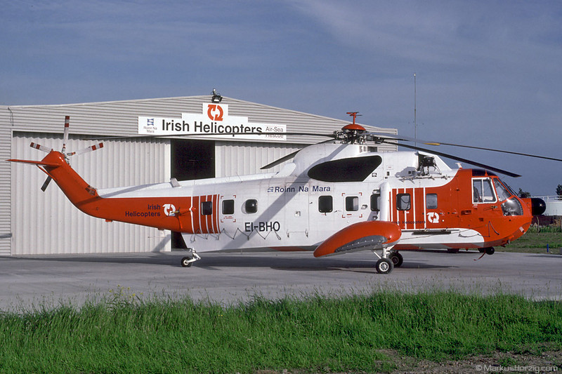 EI-BHO S61N Irish Helicopters @ Shannon Ireland 15Jun92
