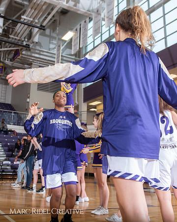 Broughton girls varsity basketball vs Millbrook. February 15, 2019. 750_7246