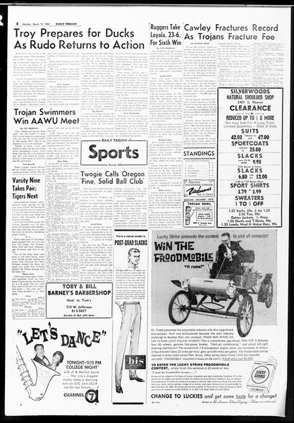 Daily Trojan, Vol. 52, No. 89, March 13, 1961