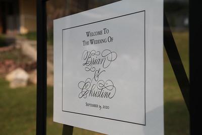Christine & Brian's Wedding 2020