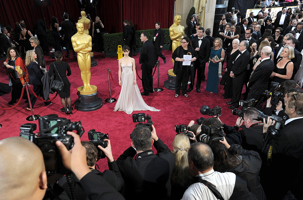 . Cristin Milioti attends the 86th Academy Awards at the Dolby Theatre in Hollywood, California on Sunday March 2, 2014 (Photo by John McCoy / Los Angeles Daily News)