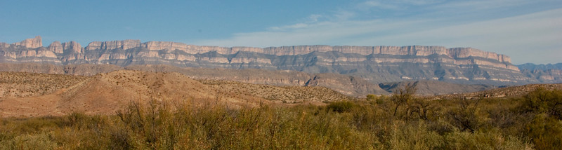 The Sierra del Carmen mountains run down the east side of Big Bend National Park and continue on into Mexico.