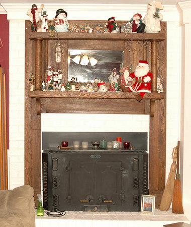 The New Fireplace Mantle-Installed, December of 2006