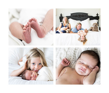 Newborn Family Photographer at home - Pacific Beach