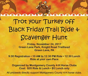 Trot your Turkey off Trail Ride &  Scavenger Hunt