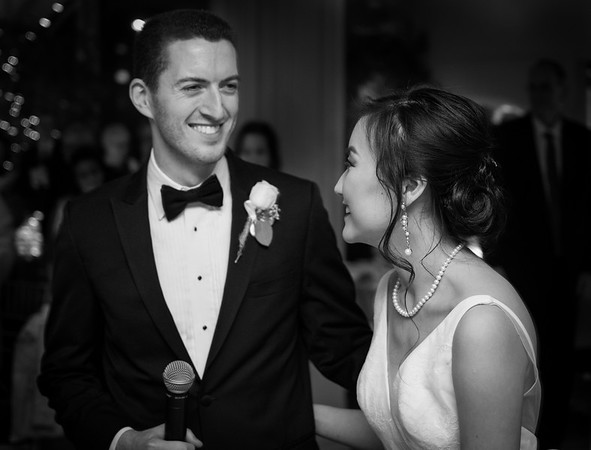 Yan & Henry Wedding Reception (B&W)