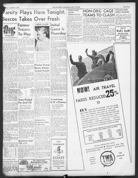Daily Trojan, Vol. 29, No. 54, December 07, 1937