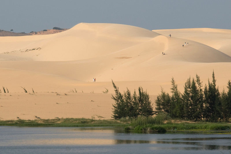 The white sand dunes across the white sand dunes- Mui Ne, Vietnam