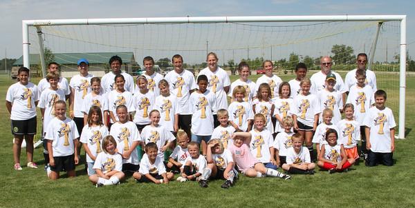 Soccer camp group photos