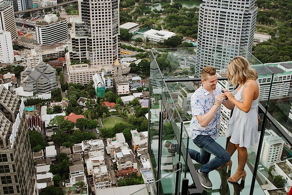 Perfect Proposal on Bangkok's Best Rooftop