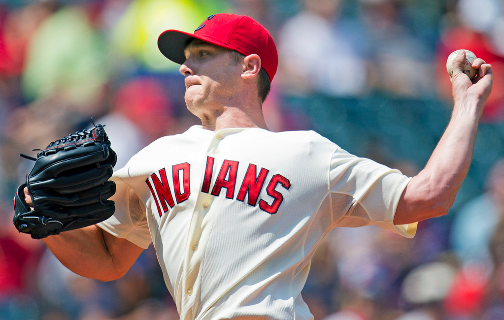 . Indians starter Scott Kazmir lasted six inning against the Twins, giving up one earned run on seven hits. (Photo by Jason Miller/Getty Images)