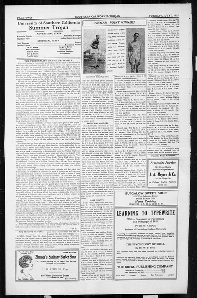 The Southern California Trojan, Vol. 4, No. 3, July 07, 1925