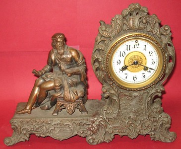 Waterbury Varden Figure Clock in Metal Case, ca. 1899 - 1900