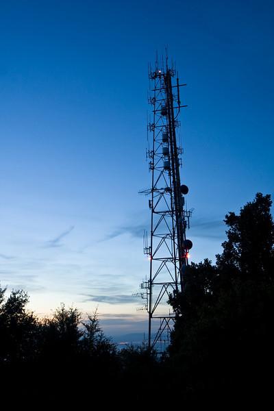 Tower on Mt. Diablo at twilight