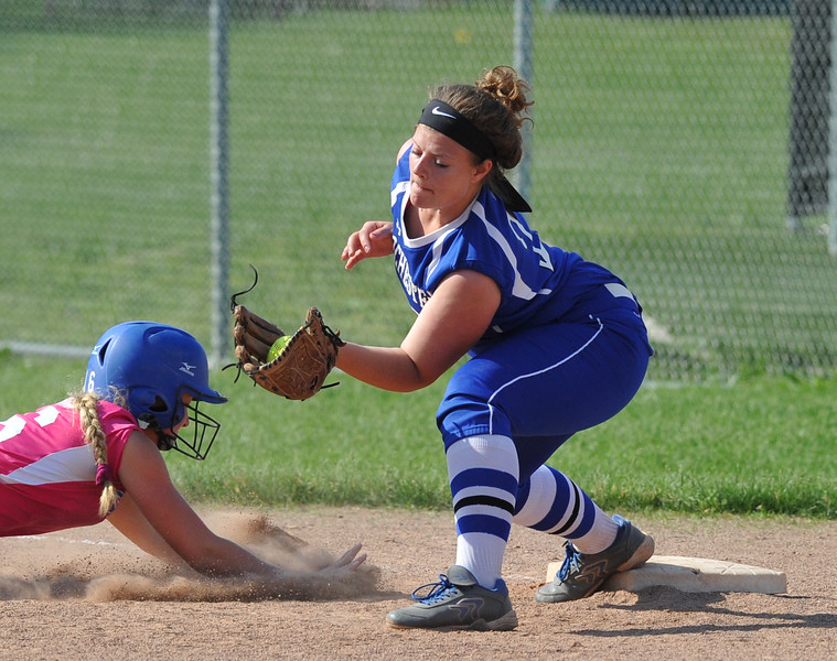 Utica Eisenhower defeated Rochester 9-0 in the MHSAA D1 softball pre-district game played on Tuesday May 29, 2018 at Rochester High School. (Digital First Media Photo by Ken Swart)