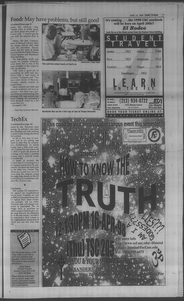 Daily Trojan, Vol. 133, No. 59, April 15, 1998