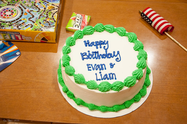 Liam and Evan bday 2015