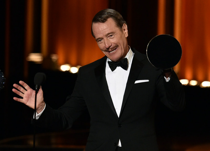 . Actor Bryan Cranston accepts Outstanding Lead Actor in a Drama Series for \'Breaking Bad\' onstage at the 66th Annual Primetime Emmy Awards held at Nokia Theatre L.A. Live on August 25, 2014 in Los Angeles, California.  (Photo by Kevin Winter/Getty Images)
