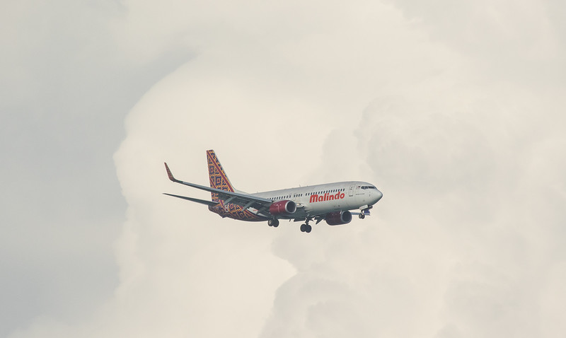Malindo Air B737-800 9M-LCF as MXD2204 approaching Langkawi LGK WMKL.