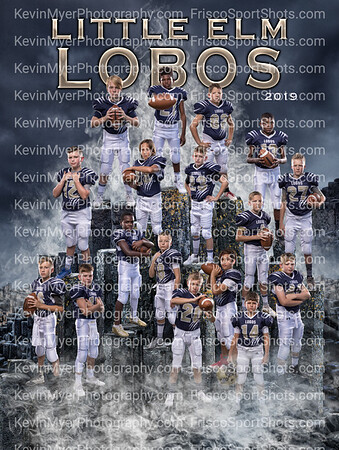 Lobos Youth Football Team Portraits