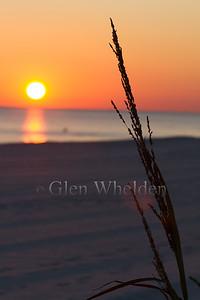 Sunset over Gulf of Mexico, Biloxi, MS