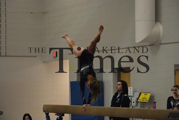 12-17-13 Lakeland gymnastics vs. Chequamegon