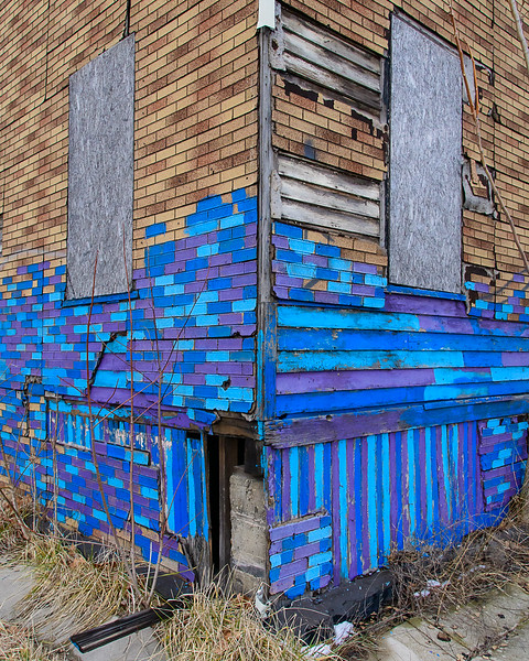 Corner of Derelict Building, East Side Detroit