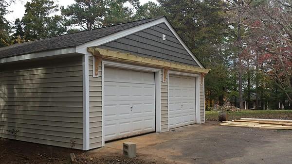 Trellis Over Garage Door
