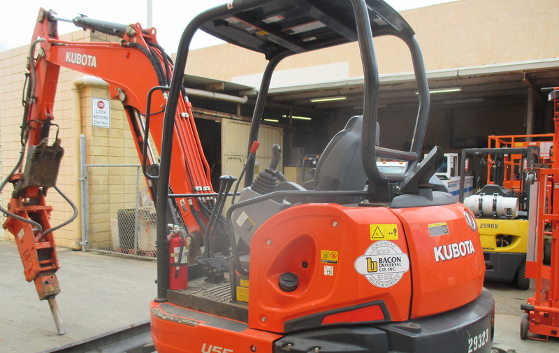 NPK PH3 hydraulic hammer on Kubota mini excavator (1).JPG