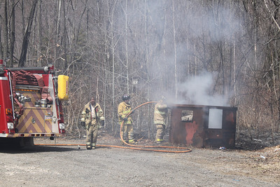 Dumpster Fire, Locust Lake Road, Ryan Township (3-30-2011)