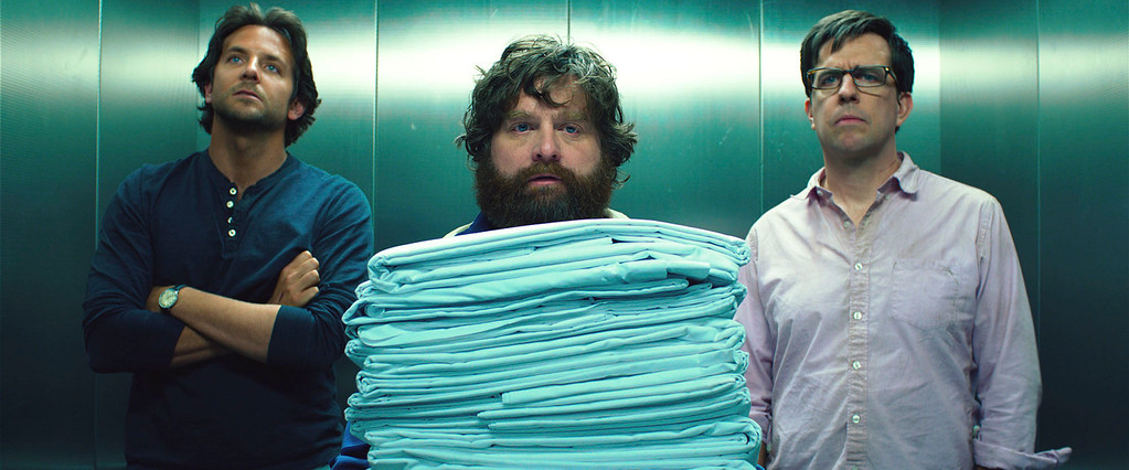 """. (L-r) BRADLEY COOPER as Phil, ZACH GALIFIANAKIS as Alan and ED HELMS as Stu in Warner Bros. Pictures� and Legendary Pictures� comedy  \""""THE HANGOVER PART III,\"""" a Warner Bros. Pictures release."""