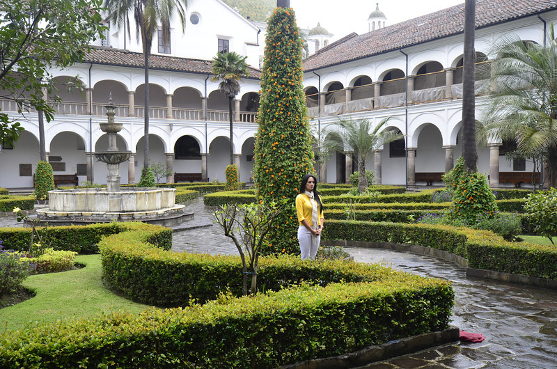 TV Hostesss in Convent Garden, Monestary of San Francisco, Quito