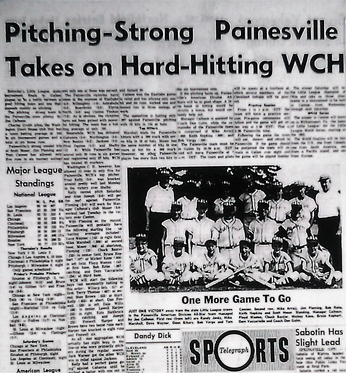 . The Painesville Telegraph�s preview of the 1963 Little League state championship game. (News-Herald file)