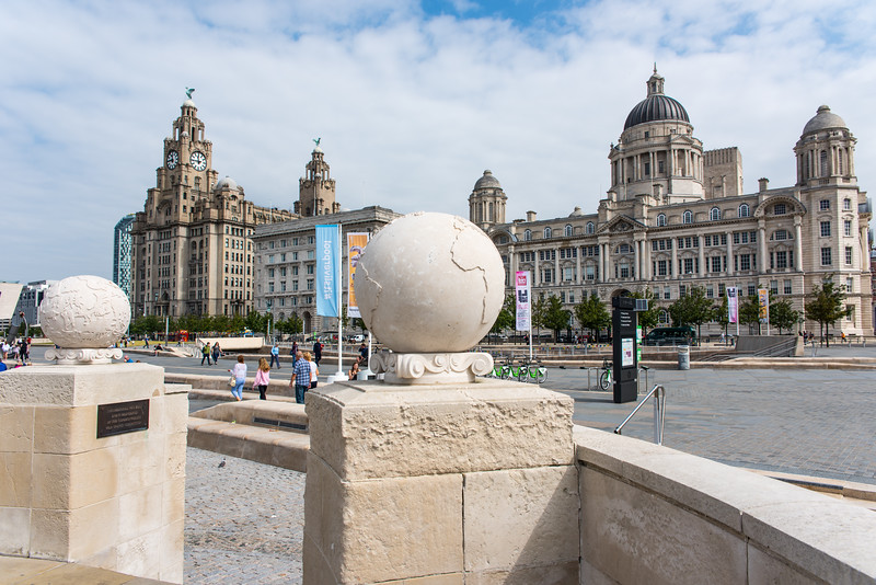 Three Graces, Liverpool - Royal Liver Building, Cunard Building and Port of Liverpool Building
