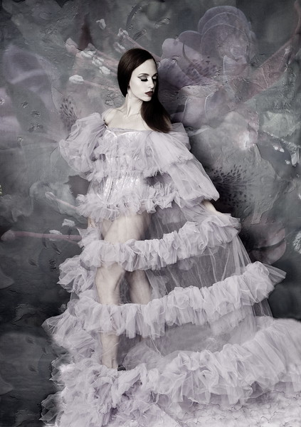 Lavender Gown - Bell Fantasy Backdrop - Saturated