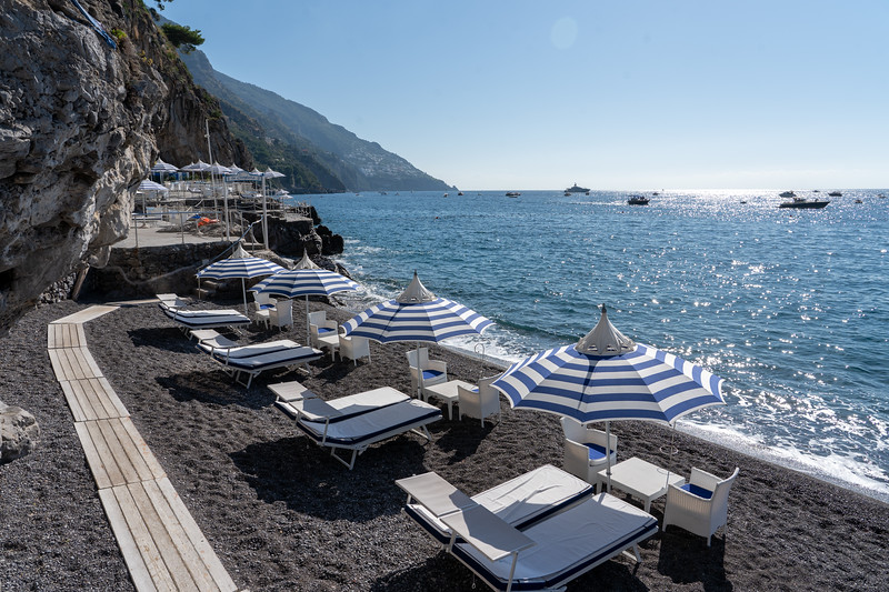 Private beach in Positano, Italy