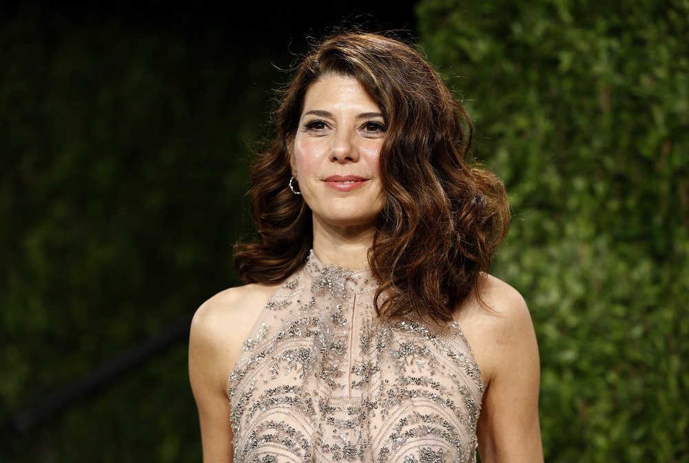 Description of . Marisa Tomei attends the 2013 Vanity Fair Oscars Party in West Hollywood, California February 24, 2013.  REUTERS/Danny Moloshok