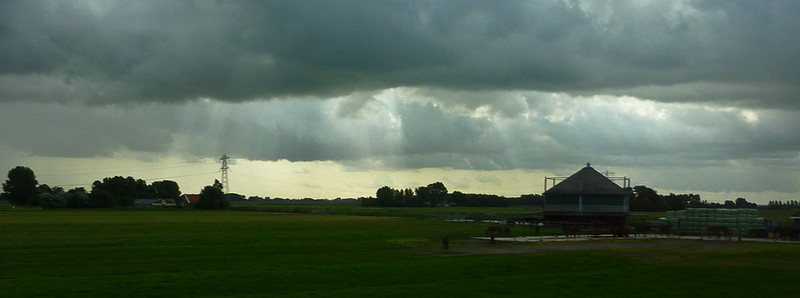 Beautiful light as we begin a bus tour into the more rural parts of the Netherlands.